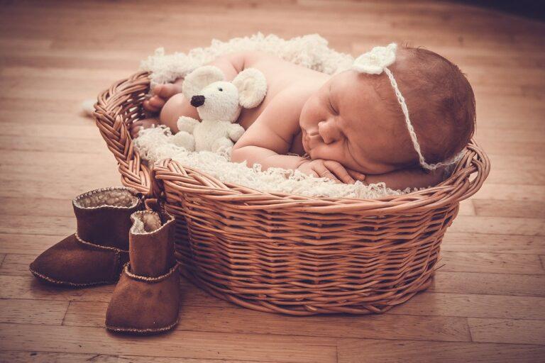 basket, gift, baby