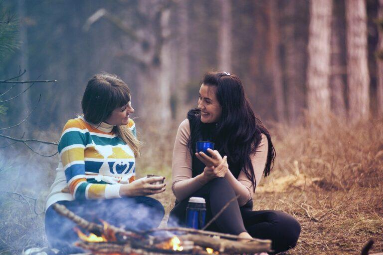 women, girls, talking, social health